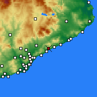 Nearby Forecast Locations - Sant Andreu de Llavaneres - Carte