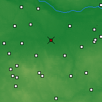 Nearby Forecast Locations - Łowicz - Carte