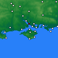 Nearby Forecast Locations - Hamble-le-Rice - Carte