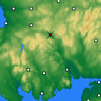 Nearby Forecast Locations - Sanquhar - Carte