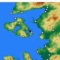 Nearby Forecast Locations - Mytilène - Carte