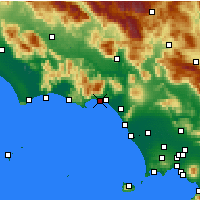 Nearby Forecast Locations - Formia - Carte