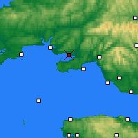 Nearby Forecast Locations - Llanelli - Carte