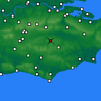 Nearby Forecast Locations - Royal Tunbridge Wells - Carte