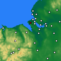 Nearby Forecast Locations - Greasby - Carte
