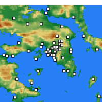 Nearby Forecast Locations - Kallithéa - Carte