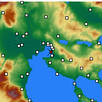 Nearby Forecast Locations - Kalamaria - Carte
