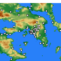 Nearby Forecast Locations - Keratsini - Carte