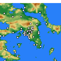 Nearby Forecast Locations - Chalándri - Carte