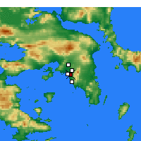 Nearby Forecast Locations - Agios Dimitrios - Carte