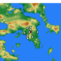 Nearby Forecast Locations - Agia Paraskevi - Carte