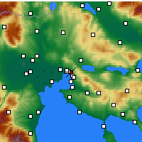 Nearby Forecast Locations - Polichni - Carte