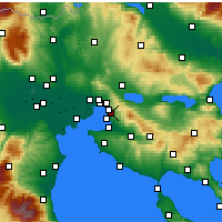Nearby Forecast Locations - Pylaia - Carte