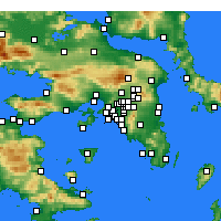 Nearby Forecast Locations - Moschato - Carte