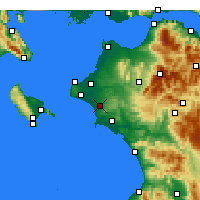 Nearby Forecast Locations - Amaliáda - Carte