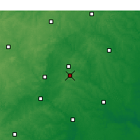 Nearby Forecast Locations - Cary - Carte