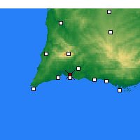Nearby Forecast Locations - Portimão - Carte