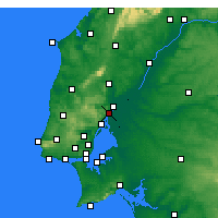 Nearby Forecast Locations - Vila Franca de Xira - Carte