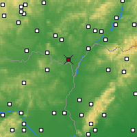 Nearby Forecast Locations - Břeclav - Carte