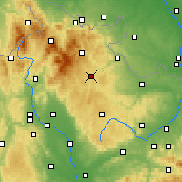 Nearby Forecast Locations - Bruntál - Carte