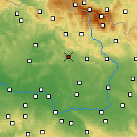 Nearby Forecast Locations - Jičín - Carte