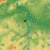 Nearby Forecast Locations - Kralupy nad Vltavou - Carte