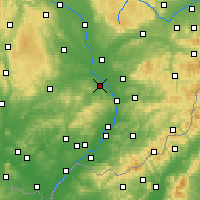 Nearby Forecast Locations - Kroměříž - Carte