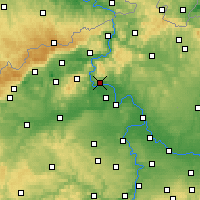 Nearby Forecast Locations - Litoměřice - Carte