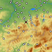 Nearby Forecast Locations - Třinec - Carte