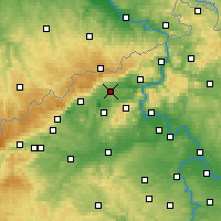 Nearby Forecast Locations - Teplice - Carte