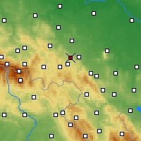 Nearby Forecast Locations - Świebodzice - Carte