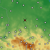 Nearby Forecast Locations - Bolesławiec - Carte