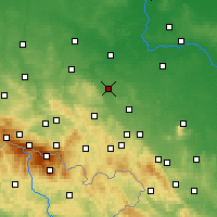 Nearby Forecast Locations - Jawor - Carte