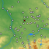 Nearby Forecast Locations - Knurów - Carte
