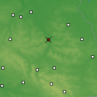 Nearby Forecast Locations - Krasnystaw - Carte