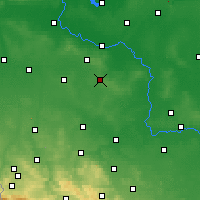 Nearby Forecast Locations - Polkowice - Carte