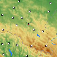 Nearby Forecast Locations - Sanok - Carte