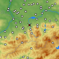 Nearby Forecast Locations - Skoczów - Carte