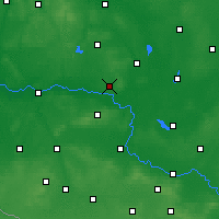 Nearby Forecast Locations - Sulechów - Carte