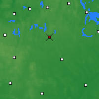 Nearby Forecast Locations - Szczytno - Carte
