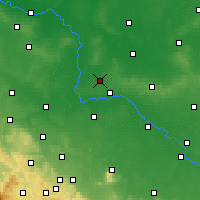 Nearby Forecast Locations - Wołów - Carte