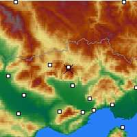 Nearby Forecast Locations - Falakró - Carte