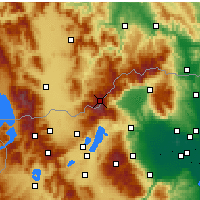 Nearby Forecast Locations - Voras Mountains - Carte