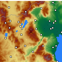 Nearby Forecast Locations - Vermio - Seli - Carte