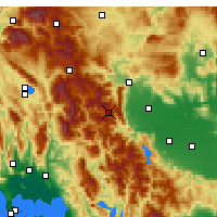 Nearby Forecast Locations - Pertouli - Carte