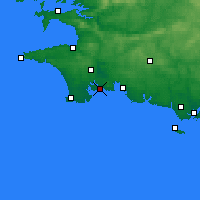 Nearby Forecast Locations - Bénodet - Carte