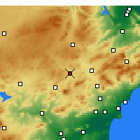 Nearby Forecast Locations - Yecla - Carte