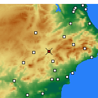 Nearby Forecast Locations - Villena - Carte