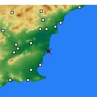 Nearby Forecast Locations - Torrevieja - Carte