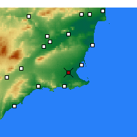 Nearby Forecast Locations - Torre-Pacheco - Carte